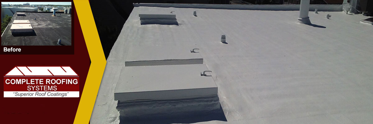Flat Roof Restoration and Coatings by Complete Roofing Systems